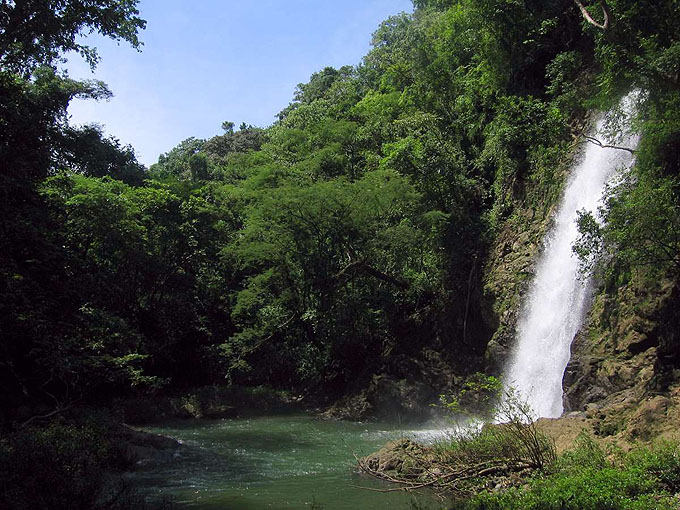 The famous montezuma waterfall